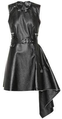 Alexander McQueen Belted leather dress