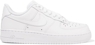 Nike - Air Force I Leather Sneakers - White $90 thestylecure.com