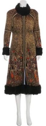 Chanel Paris-Moscou Fur-Trimmed Cardigan Coat Brown Paris-Moscou Fur-Trimmed Cardigan Coat