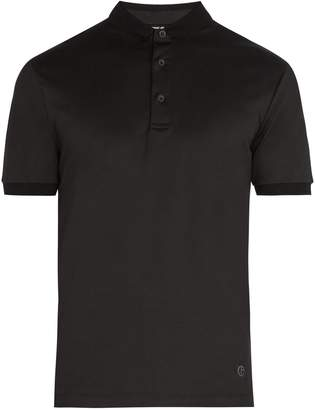 Giorgio Armani Fixed-collar cotton polo shirt