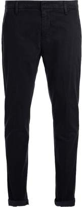 Dondup Model Gaubert Washed Blue Trousers With Micro Dots