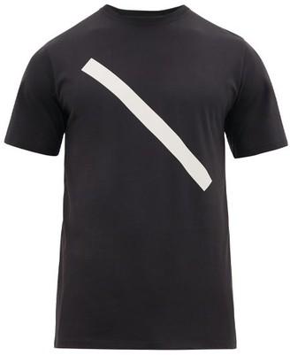 Saturdays NYC Slash Print Cotton Jersey T Shirt - Mens - Black