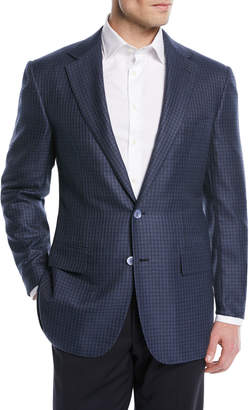 Stefano Ricci Wool/Silk Check Two-Button Sport Coat