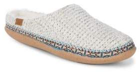 Toms Braided Faux Fur-Trimmed Slippers
