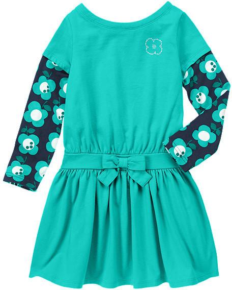 Gymboree Gem Flower Double Sleeve Dress