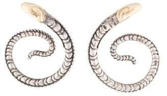 Konstantino Snake Coil Earrings