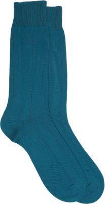 Barneys New York Thin Inverted Rib Knit Socks