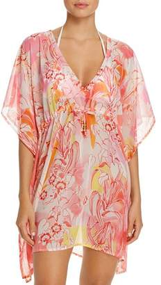 Echo Seaside Floral Tunic Swim Cover-Up