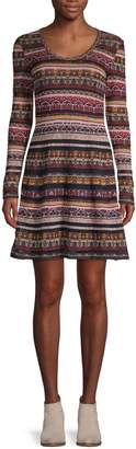M Missoni Layered Print T-Shirt Dress