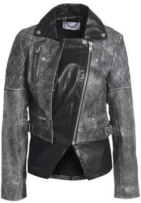 Muu Baa Muubaa Paneled Leather Biker Jacket
