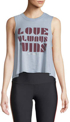 Spiritual Gangster Luv Wins Cropped Graphic Muscle Tank