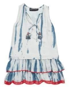 Hemant & Nandita Little Girl's& Girl's Tassel Tie-Dye Tunic