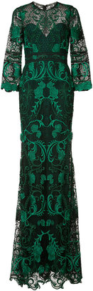 Marchesa Notte rose embroidered gown $895 thestylecure.com