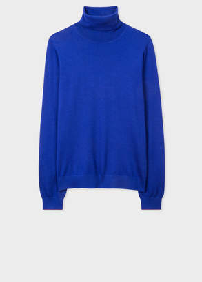 Paul Smith Women's Cobalt Blue Wool Roll-Neck Sweater