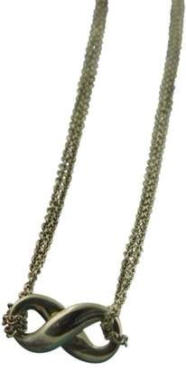 Tiffany & Co. 925 Sterling Silver Infinity Double Chain Pendant Necklace