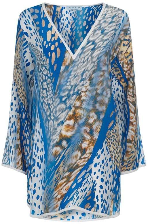 Shan Animal Print Silk Tunic