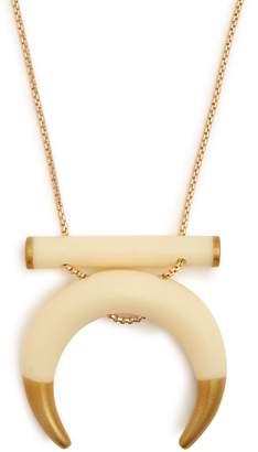 Wai Wai - Horn Shaped Pendant Necklace - Womens - White