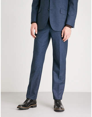 Richard James Pindot-pattern wool and mohair-blend trousers