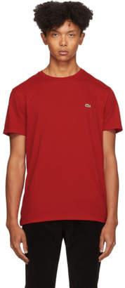 Lacoste Red Pima Cotton T-Shirt