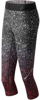 New Balance Women's Accelerate Printed Performance Capri Leggings