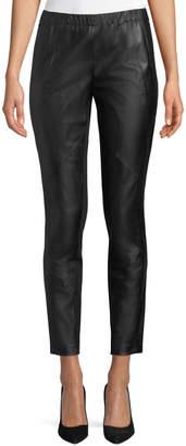 Lafayette 148 New York Astoria Leather Front Leggings