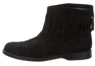 Barneys New York Barney's New York Suede Fringe-Trim Boots
