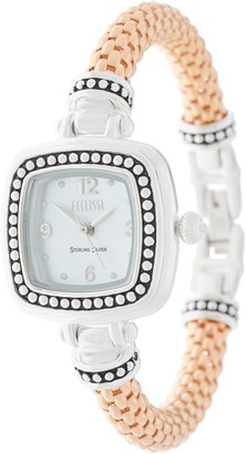 Ecclissi Sterling Silver Popcorn Band Watch