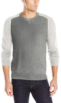 Perry Ellis Men's Colorblock V-Neck Sweater