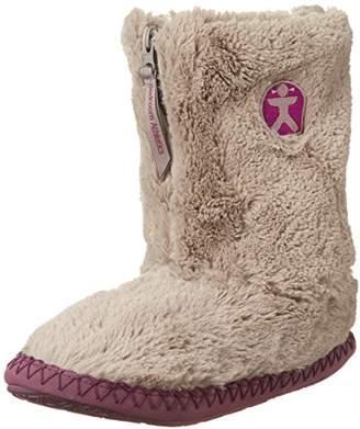 Bedroom Athletics Women's - Monroe - Classic Faux Fur Slipper Boots - Moonrock / Plum (L ())