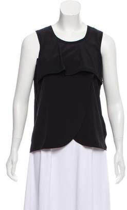 Yigal Azrouel Cut25 by Sleeveless Scoop Neck Top