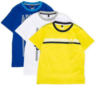 Armani Junior branded set of three T-shirts