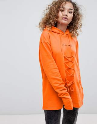Criminal Damage Lace Hoodie