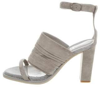 Brunello Cucinelli Suede Ankle Strap Sandals w/ Tags