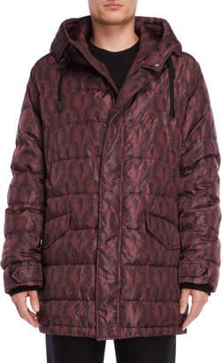 Dolce & Gabbana Printed Hooded Down Coat
