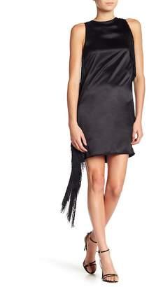 Helmut Lang Silk Fringe Mini Dress