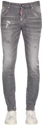 DSQUARED2 16cm Skater Graphite Cotton Denim Jeans