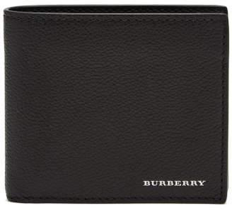 Burberry Grained Leather Bi Fold Wallet - Mens - Black