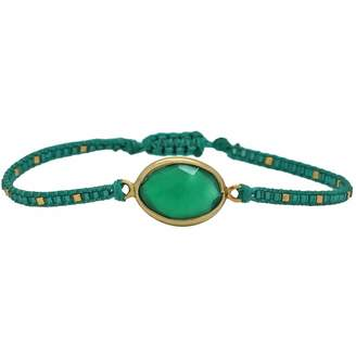 LeJu London - Peridot Stone Handwoven Bracelet