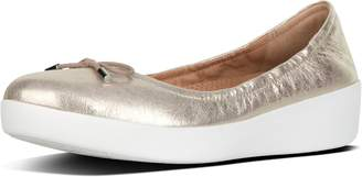 FitFlop Superbendy Metallic Leather Ballet Flats