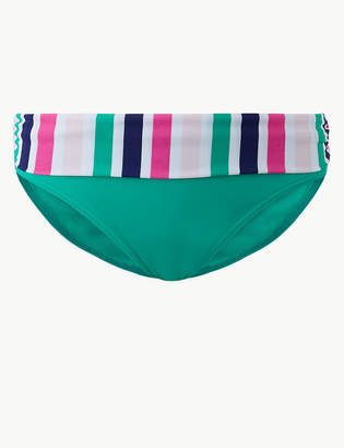 faa21963a3 Pixi M S CollectionMarks and Spencer Striped Roll Top Bikini Bottoms