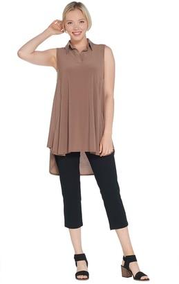 Women With Control Women with Control Regular Sleeveless Como Tunic & Crop Pants Set