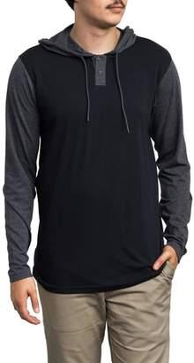 RVCA Pick Up Hooded Henley Sweatshirt