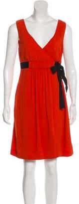 RED Valentino V-neck Sleeveless Mini Dress