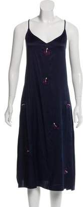 Trademark Silk Embroidered Slip w/ Tags