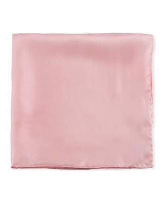 Psycho Bunny Solid Silk Twill Pocket Square, Pink