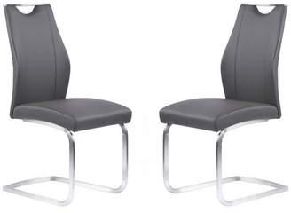 Armen Living Bravo Contemporary Dining Chairs, Set of 2