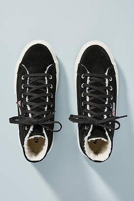 Superga Shearling-Lined High-Top Sneakers