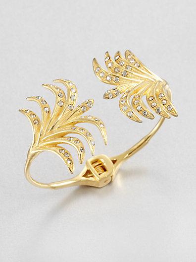 Ca&Lou Palm Open Bangle Bracelet