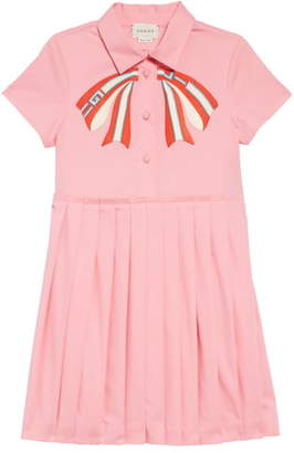 Gucci Applique Pleated Dress
