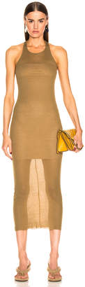 Rick Owens Tank Dress in Mustard | FWRD